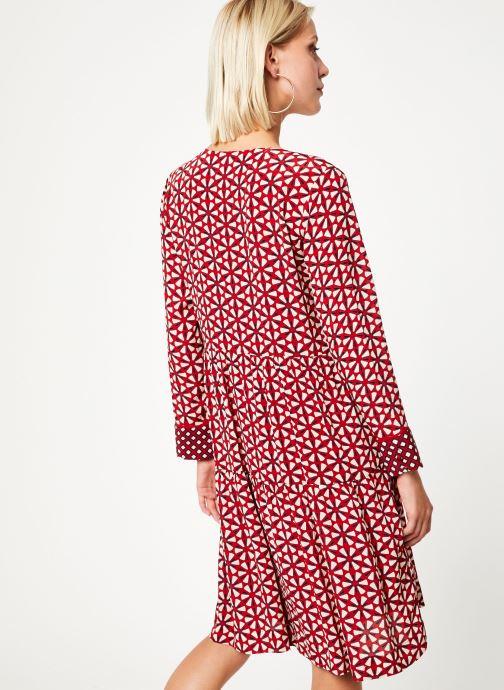 Vêtements Stella Forest ROBE COURTE LOTUS Rouge vue portées chaussures