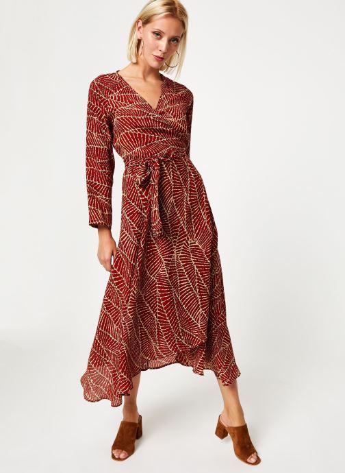 Vêtements Stella Forest ROBE MIDI PORTEFEUILLE HOJA Rouge vue bas / vue portée sac
