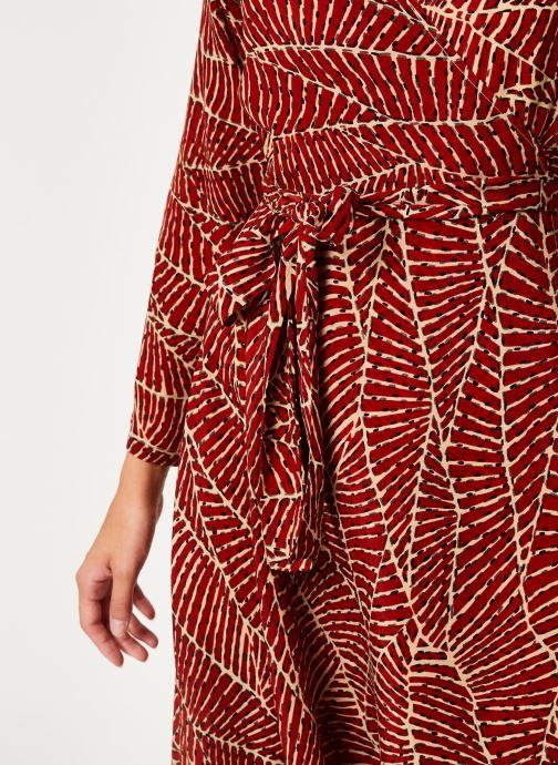 Vêtements Stella Forest ROBE MIDI PORTEFEUILLE HOJA Rouge vue face