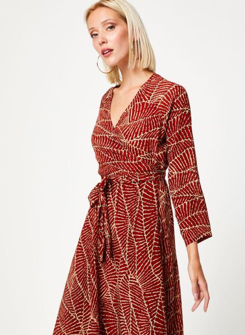 Vêtements Stella Forest ROBE MIDI PORTEFEUILLE HOJA Rouge vue droite