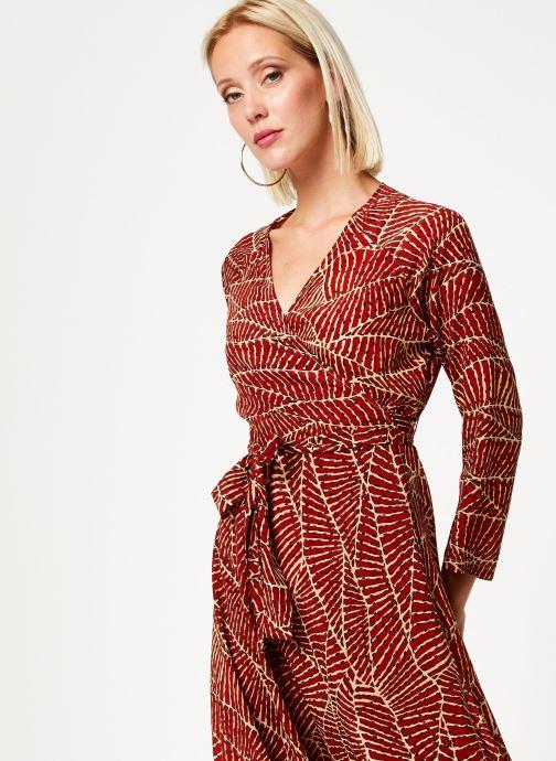 Vêtements Stella Forest ROBE MIDI PORTEFEUILLE HOJA Rouge vue détail/paire