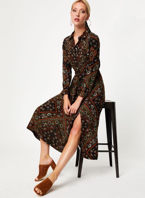 Vêtements Stella Forest ROBE CHEMISE MARTHA Vert vue bas / vue portée sac