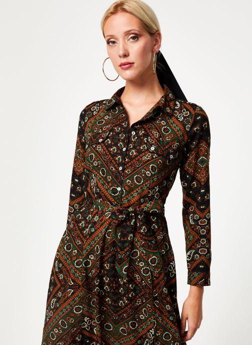 Vêtements Stella Forest ROBE CHEMISE MARTHA Vert vue détail/paire
