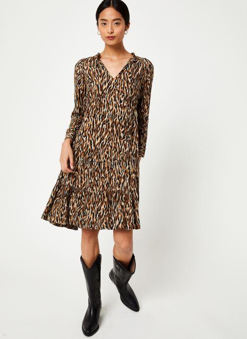 Vêtements Stella Forest ROBE DECOUPE HANCHE TIGRE Beige vue bas / vue portée sac