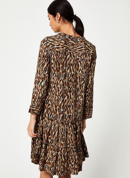 Vêtements Stella Forest ROBE DECOUPE HANCHE TIGRE Beige vue portées chaussures