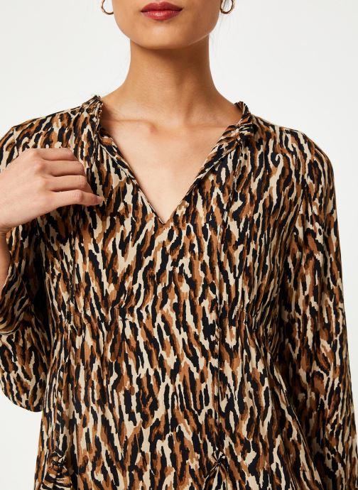Vêtements Stella Forest ROBE DECOUPE HANCHE TIGRE Beige vue face