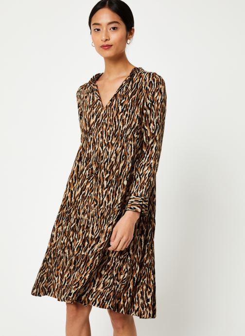 Vêtements Stella Forest ROBE DECOUPE HANCHE TIGRE Beige vue détail/paire