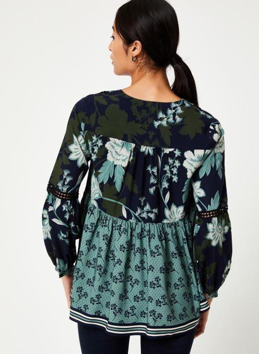 Vêtements Stella Forest BLOUSE FRONCEE KELLY Vert vue portées chaussures