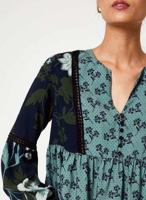 Vêtements Stella Forest BLOUSE FRONCEE KELLY Vert vue face