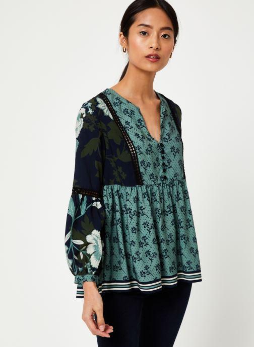 Vêtements Stella Forest BLOUSE FRONCEE KELLY Vert vue droite