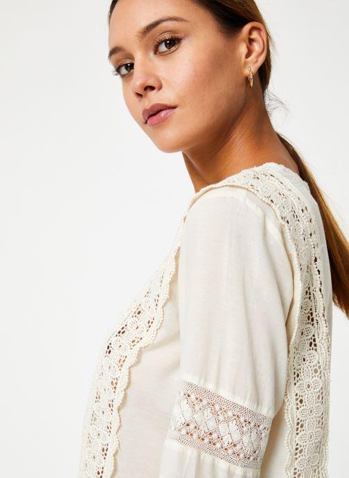 Vêtements Stella Forest TOP BRODE DEBORAH Blanc vue face