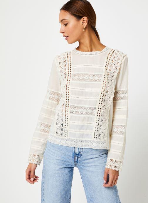 Vêtements Stella Forest TOP BRODE DEBORAH Blanc vue droite