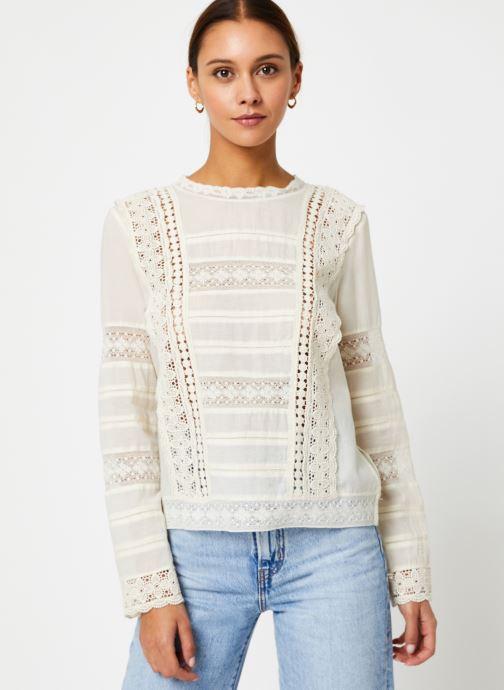 Vêtements Stella Forest TOP BRODE DEBORAH Blanc vue détail/paire