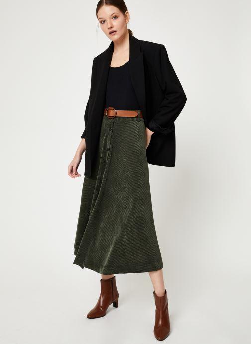 Vêtements Stella Forest JUPE VELOUR BOUTONS VICTOR Vert vue bas / vue portée sac