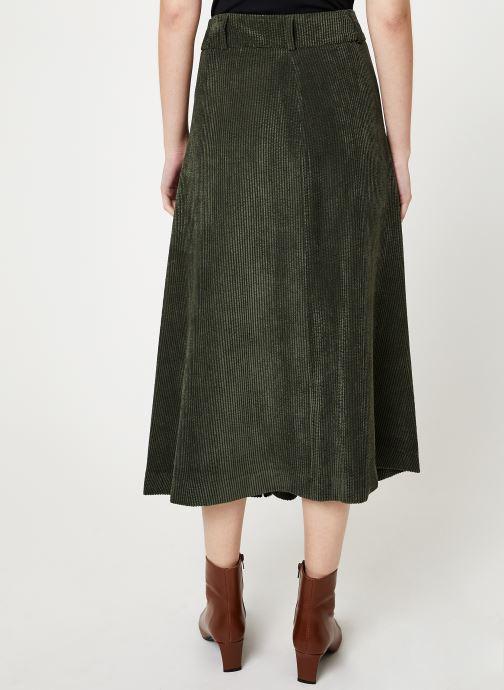 Vêtements Stella Forest JUPE VELOUR BOUTONS VICTOR Vert vue portées chaussures