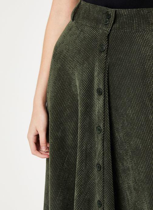 Vêtements Stella Forest JUPE VELOUR BOUTONS VICTOR Vert vue face