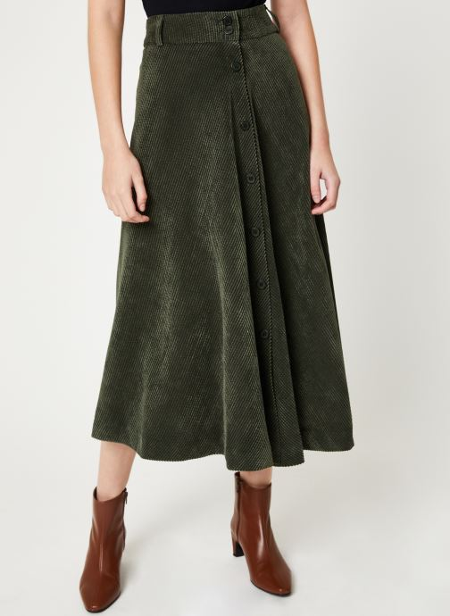 Vêtements Stella Forest JUPE VELOUR BOUTONS VICTOR Vert vue détail/paire