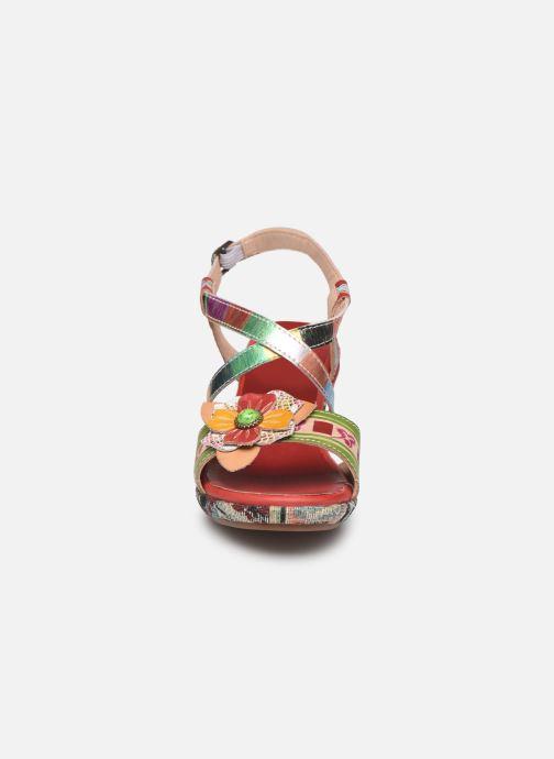 Sandales et nu-pieds Laura Vita Beclforto 01 Rouge vue portées chaussures