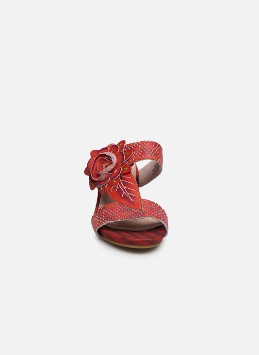 Mules et sabots Laura Vita Becnoito 21 Rouge vue portées chaussures