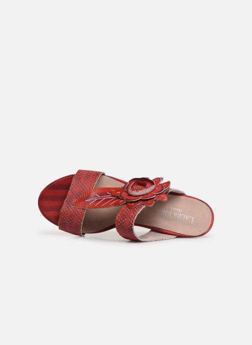 Mules & clogs Laura Vita Becnoito 21 Red view from the left