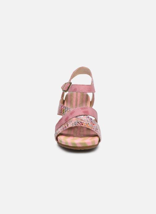 Sandales et nu-pieds Laura Vita Benoit 22 Rose vue portées chaussures
