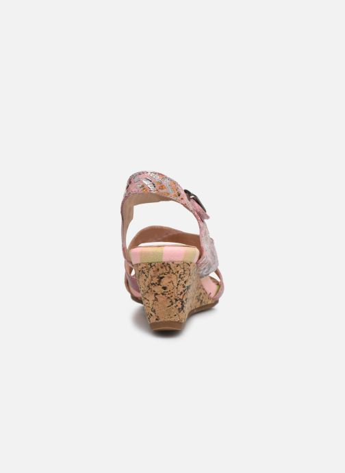 Sandales et nu-pieds Laura Vita Benoit 22 Rose vue droite