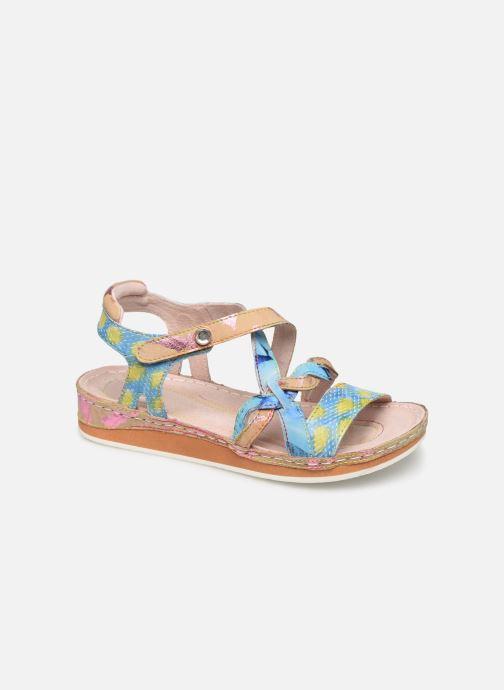Sandals Laura Vita Brcuelo 55 Blue detailed view/ Pair view
