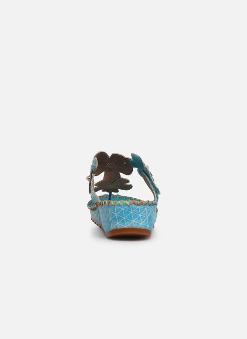 Sandales et nu-pieds Laura Vita Brcyano 03 Bleu vue droite
