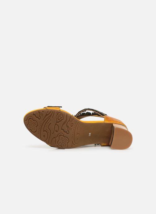 Sandales et nu-pieds Laura Vita Celeste 05 Jaune vue haut