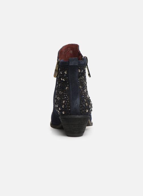 Bottines et boots Laura Vita Clemence 07 Bleu vue droite