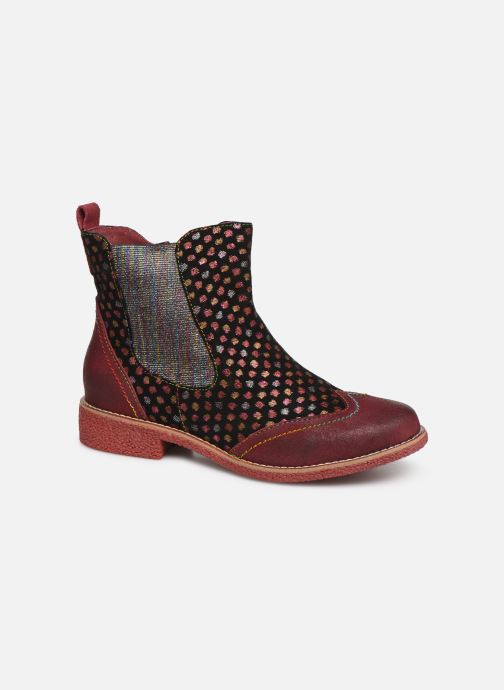 Ankle boots Laura Vita Coralie 068 Red detailed view/ Pair view