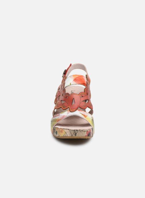 Sandales et nu-pieds Laura Vita Facdiao 03 Rouge vue portées chaussures