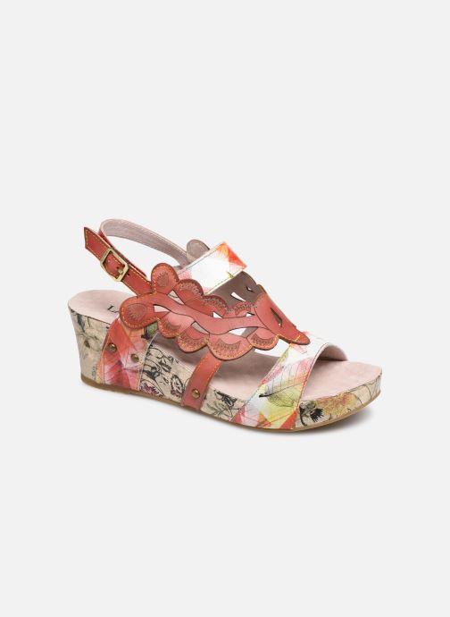 Sandales et nu-pieds Laura Vita Facdiao 03 Rouge vue détail/paire