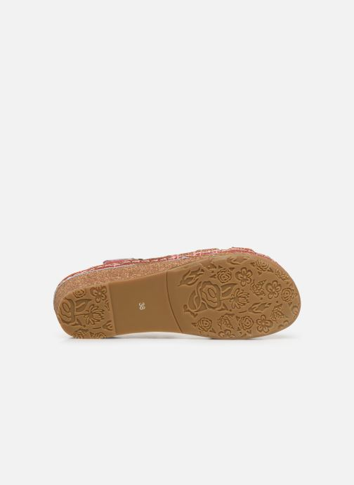 Sandales et nu-pieds Laura Vita Facraho 01 Rouge vue haut