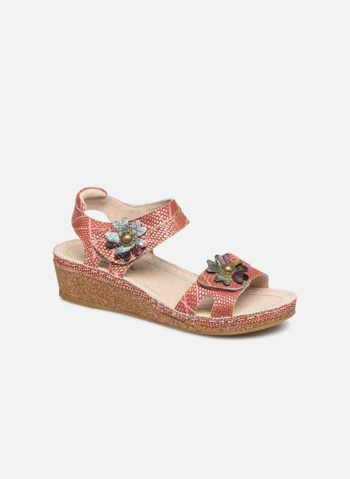 Sandales et nu-pieds Laura Vita Facraho 01 Rouge vue détail/paire