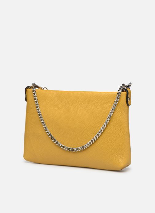 Bolsos de mano Georgia Rose Ugadi Leather Amarillo vista lateral derecha