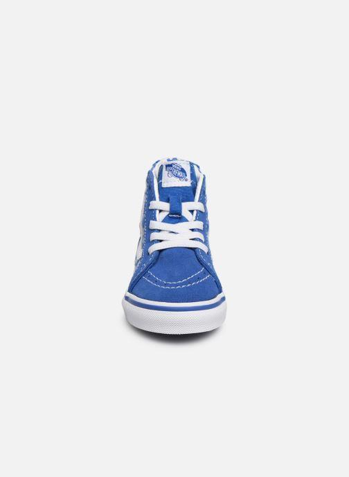 Deportivas Vans Sk8-Hi BB Azul vista del modelo