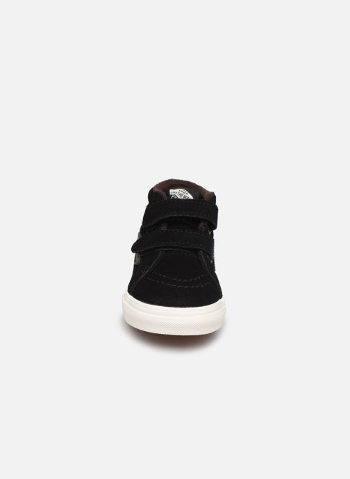 Baskets Vans Td Sk8-Mid Reissue V Noir vue portées chaussures
