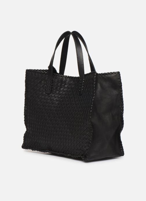 Handtassen Dragon Diffusion INTERLACED POLO BOX SMALL Zwart rechts