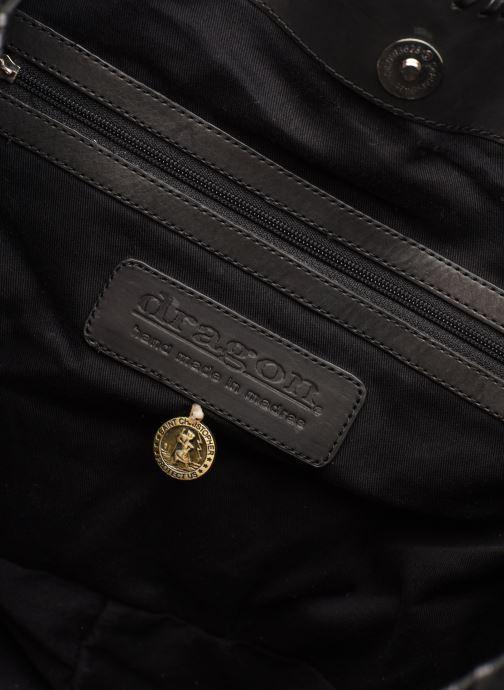 Bolsos de mano Dragon Diffusion INTERLACED POLO BOX SMALL Negro vistra trasera
