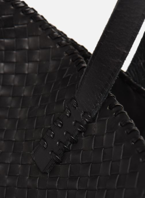 Sacs à main Dragon Diffusion INTERLACED POLO BOX SMALL Noir vue gauche