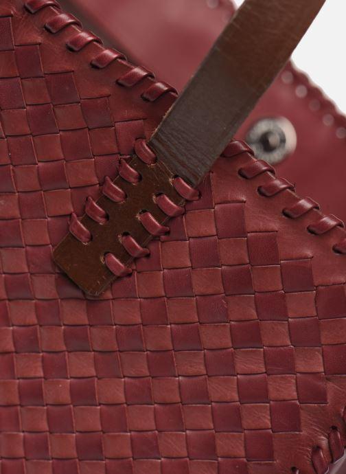 Sacs à main Dragon Diffusion INTERLACED POLO BOX SMALL Rouge vue gauche