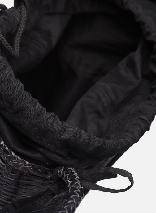 Handtassen Dragon Diffusion SINGLE LIZARD ROUND BUCKET Zwart achterkant