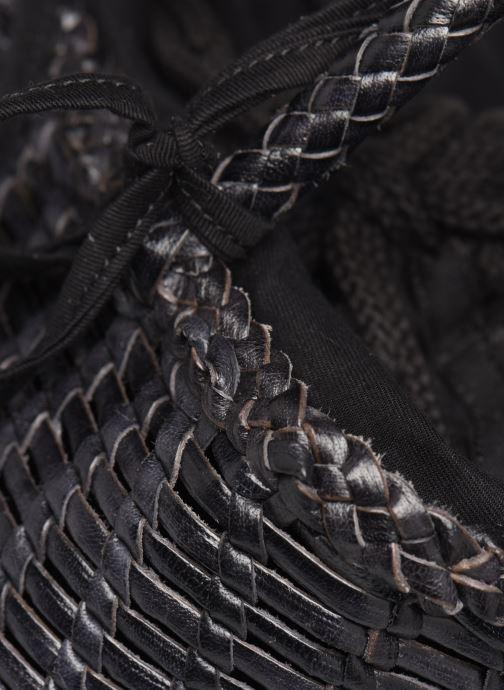 Handtassen Dragon Diffusion SINGLE LIZARD ROUND BUCKET Zwart links