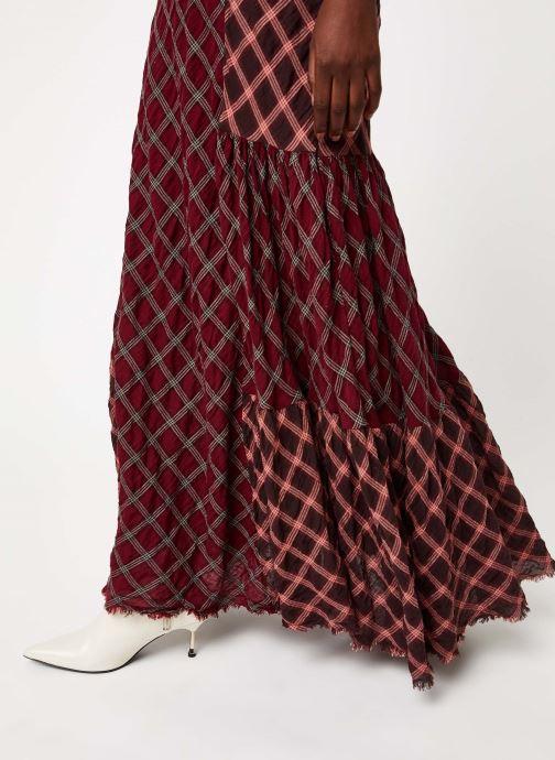 Vêtements Free People PRAIRIE DREAMS MAXI Bordeaux vue face