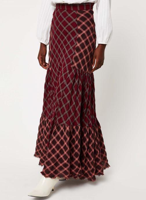 Vêtements Free People PRAIRIE DREAMS MAXI Bordeaux vue détail/paire