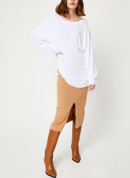 Vêtements Free People SHIMMY SHAKE TOP Blanc vue bas / vue portée sac
