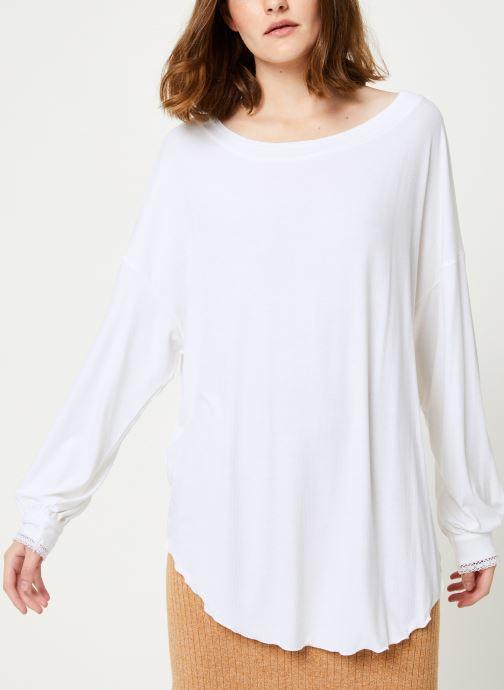 Vêtements Free People SHIMMY SHAKE TOP Blanc vue détail/paire