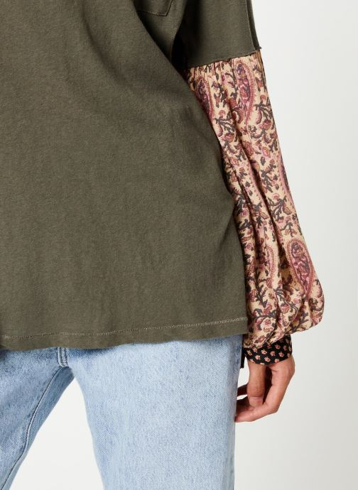 Vêtements Free People JADE LONG SLEEVE Vert vue face