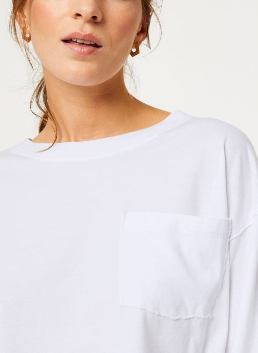 Vêtements Free People AUSTIN LONG SLEEVE Blanc vue face